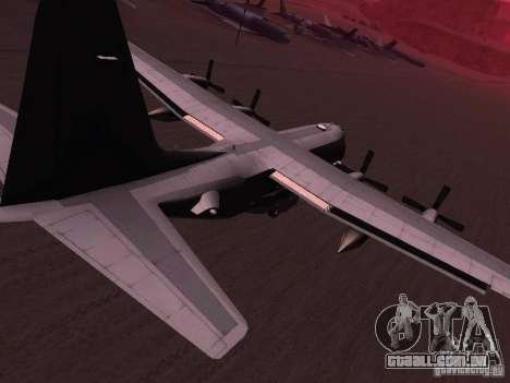 AC-130 Spooky II para GTA San Andreas esquerda vista