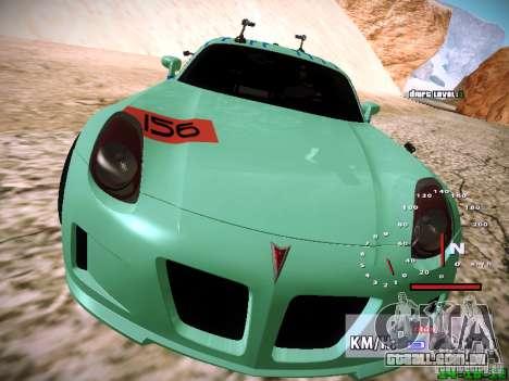 Pontiac Solstice Falken Tire para GTA San Andreas vista inferior