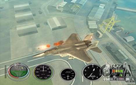Rápido lançamento de foguete a Hydra e Hunter para GTA San Andreas terceira tela