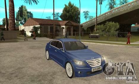 Hyundai Genesis para GTA San Andreas vista direita
