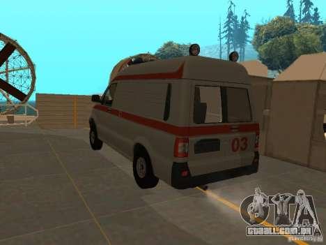 UAZ Simba SC ambulância para GTA San Andreas esquerda vista