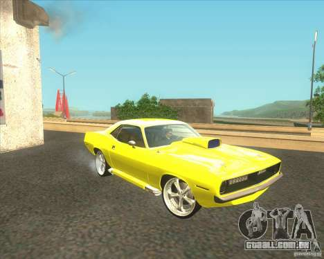 Plymouth Barracuda para GTA San Andreas vista interior
