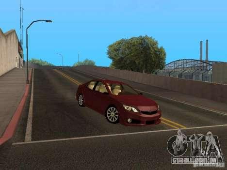 Toyota Camry 2013 para GTA San Andreas esquerda vista