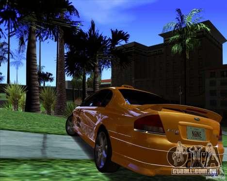 Ford Falcon XR8 Taxi para GTA San Andreas traseira esquerda vista