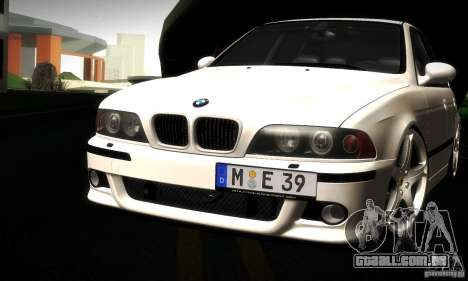 BMW M5 E39 para GTA San Andreas vista inferior