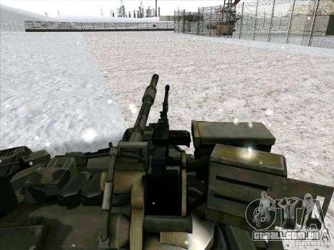 T-90 de Battlefield 3 para GTA San Andreas vista traseira