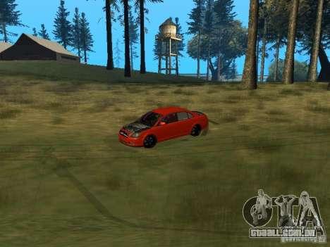 Toyota Avensis TRD Tuning para GTA San Andreas vista interior