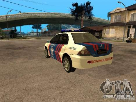 Mitsubishi Lancer Police Indonesia para GTA San Andreas esquerda vista