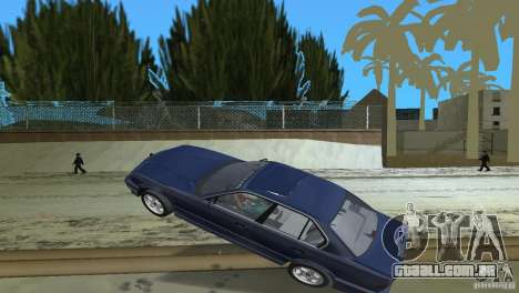 BMW 540i e34 1992 para GTA Vice City vista lateral