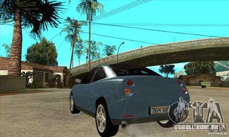 Fiat Coupe - Stock para GTA San Andreas traseira esquerda vista