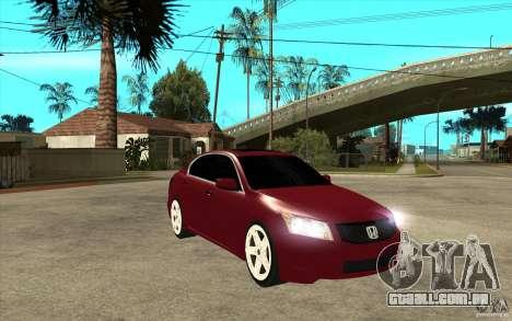 Honda Accord 2008 v2 para GTA San Andreas vista traseira