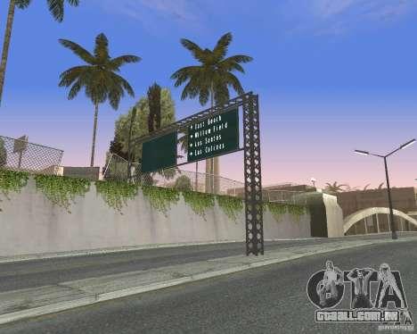 Estrada sinais v 1.0 para GTA San Andreas