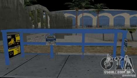Novo ponto de ônibus para GTA San Andreas terceira tela