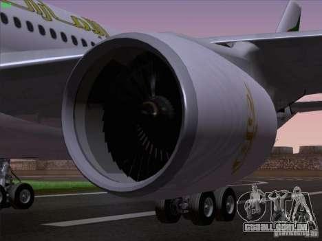 Airbus A330-200 Emirates para vista lateral GTA San Andreas