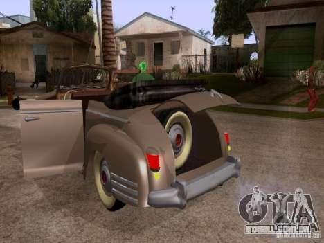 Phaeton ZiS-110b para GTA San Andreas vista interior