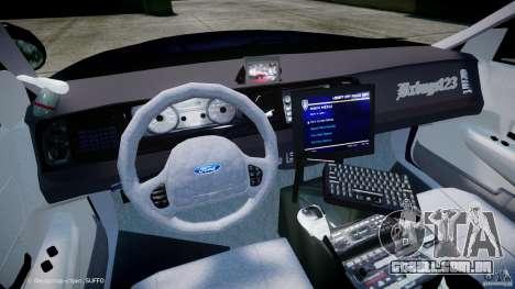 Ford Crown Victoria New York State Patrol [ELS] para GTA 4 vista de volta