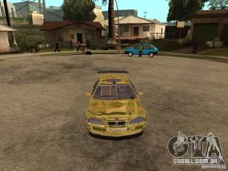 BMW M3 Goldfinger para GTA San Andreas vista direita
