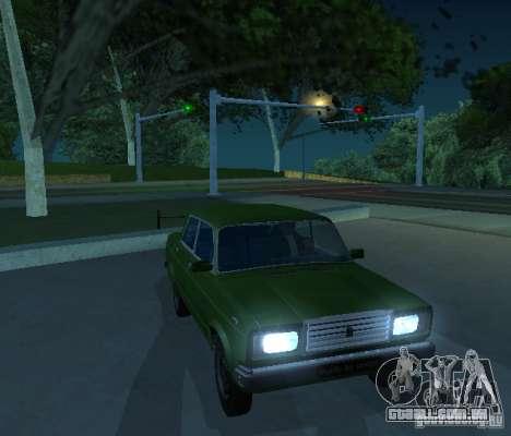 Vaz 2107 permite para GTA San Andreas esquerda vista