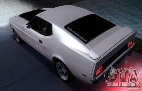Ford Mustang Mach1 1973 para GTA San Andreas esquerda vista