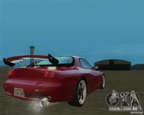 Mazda RX-7 weapon war para GTA San Andreas esquerda vista