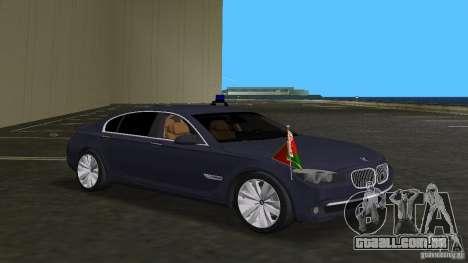 BMW 750 Li para GTA Vice City vista interior