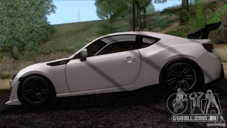 Scion FR-S 2013 para GTA San Andreas traseira esquerda vista