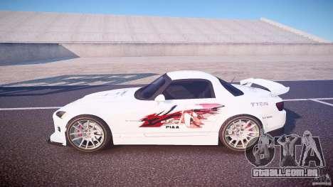 Calma Honda S2000 Tuning 2002 3 pele para GTA 4 esquerda vista