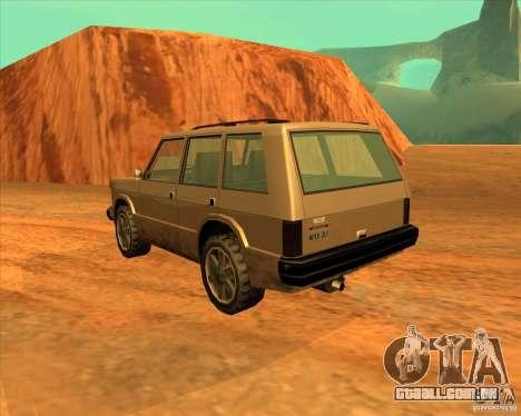 Huntley 1987 San Andreas Stories para GTA San Andreas esquerda vista