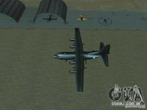 AC-130 Spooky II para GTA San Andreas vista superior