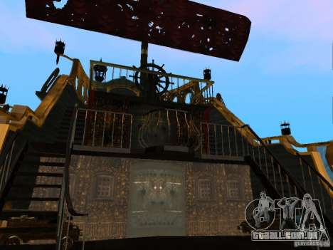 Queen Annes Revenge para GTA San Andreas vista traseira