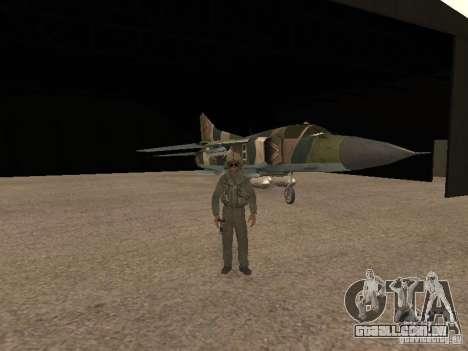 Mikoyan-Gurevich Mig-23 para GTA San Andreas vista interior