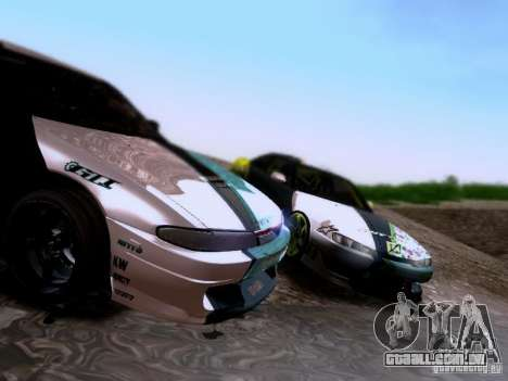 Nissan Silvia S14 Matt Powers v4 2012 para vista lateral GTA San Andreas