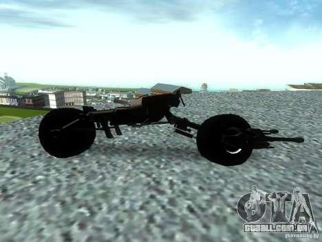 Batpod para GTA San Andreas esquerda vista