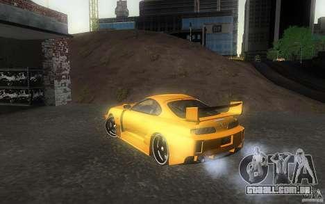 Toyota Supra Chargespeed para GTA San Andreas esquerda vista