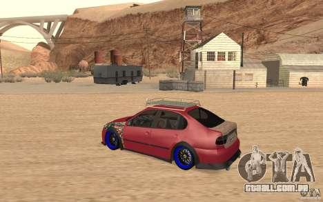 Seat Toledo 1999 Tuned para GTA San Andreas traseira esquerda vista