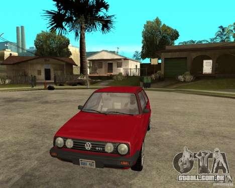Volkswagen Golf Mk.II para GTA San Andreas vista traseira