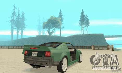 Saleen S281 v2 para GTA San Andreas vista inferior