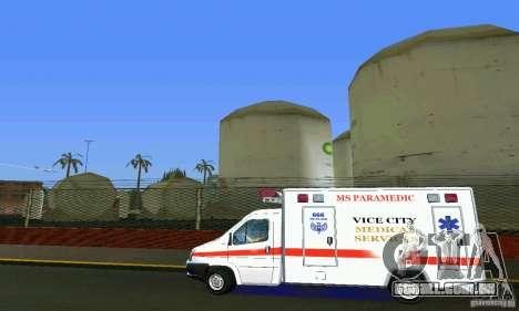 RTW Ambulance para GTA Vice City deixou vista