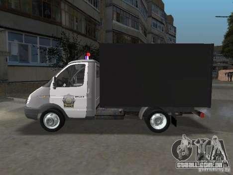 GAZ 3302 polícia para GTA San Andreas esquerda vista