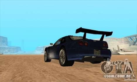 Nissan Skyline R34 GT-R LM para GTA San Andreas vista interior