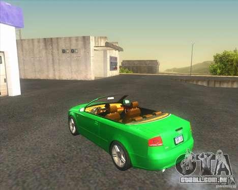 Audi A4 Convertible 2005 para GTA San Andreas traseira esquerda vista