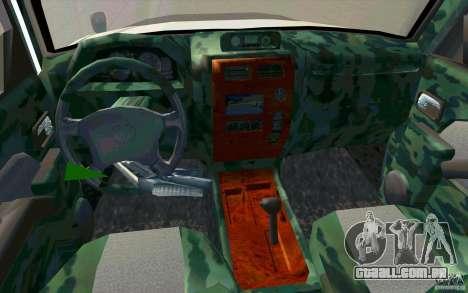 Toyota Land Cruiser Prado para GTA San Andreas vista inferior