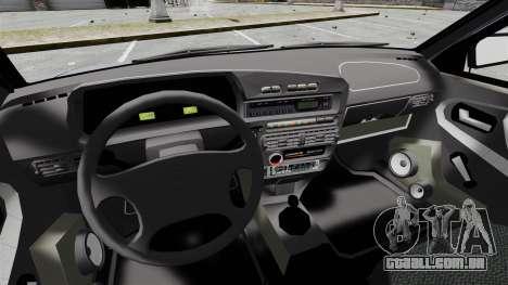 Vaz-2114 v 1.1 para GTA 4 vista interior