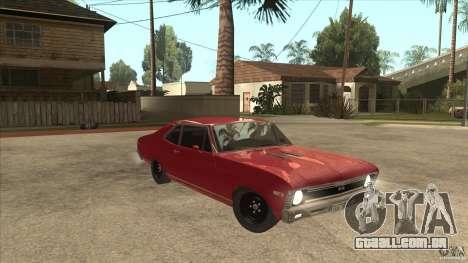 Chevrolet Nova SS para GTA San Andreas vista traseira