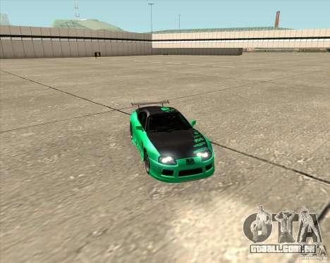 Toyota Supra ZIP style para GTA San Andreas vista superior