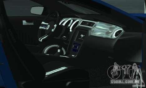 Ford Mustang Boss 302 2013 para vista lateral GTA San Andreas