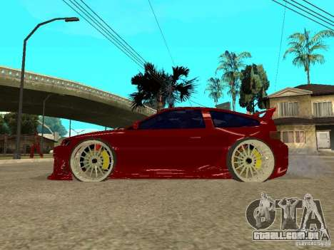 Honda CRX ED9 para GTA San Andreas esquerda vista