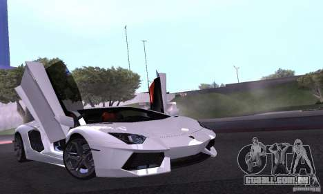 Lamborghini Aventador LP700-4 Final para vista lateral GTA San Andreas
