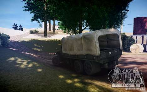 Millitary caminhão de Mafia II para GTA 4 esquerda vista
