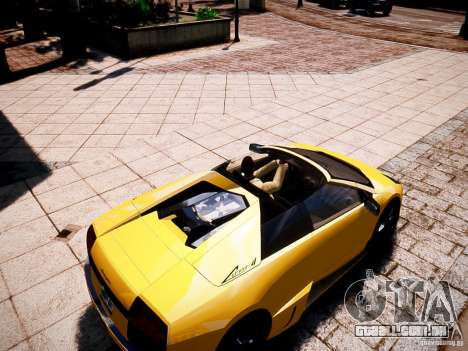 Lamborghini Murcielago LP650-4 Roadster para GTA 4 vista direita